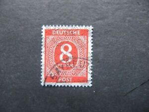 Alliierte Besetzung 1948, Am.+Brit. Zone. MiNr: 53 / II  gestempelt