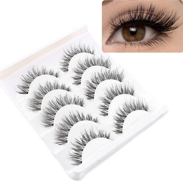 Cheap5 Pair Soft Makeup False Eyelashes Long Thick Natural Eye