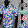 2016 Summer Mens Hawaiian Beach Shirt Short Sleeve Tops Casual Floral Surf Shirt