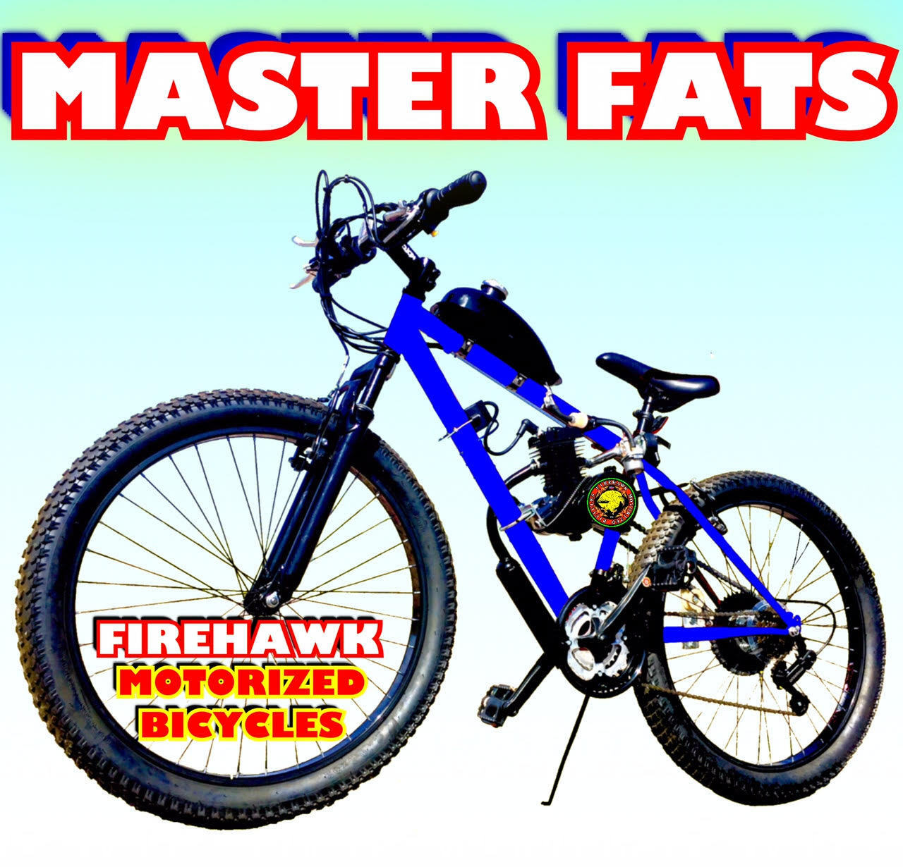 nuovo MASTER FATS 50 80CC GAS MOTOR MOTORIZED & 26 BIKE BICYCLE SCOOTER MOPED KIT