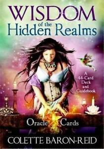 Wisdom-of-the-Hidden-Realms-Oracle-Cards-by-Colette-Baron-Reid-NEW-Book-FREE-amp