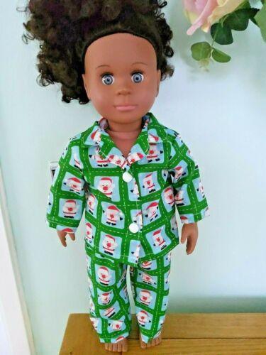 SANTA Pjs per adattarsi nostra generazione bambole American Girl fatto a mano