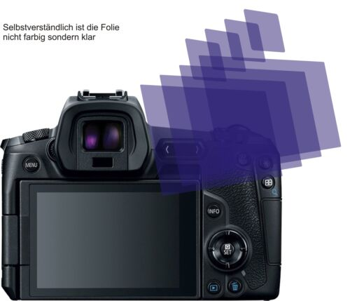 4x Canon EOS R recubrimiento protector protector de pantalla cc protector de pantalla