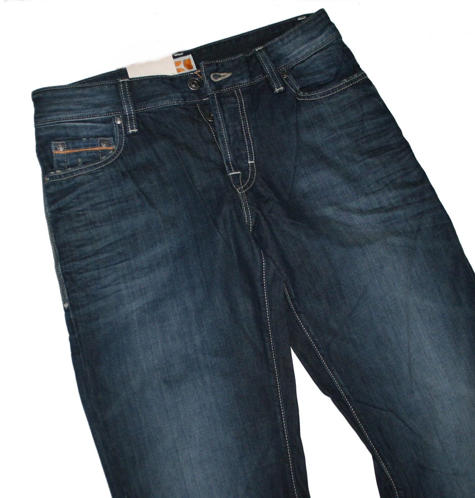 Hugo Boss 50198669 Dark Blau Denim Denim Denim BO1 Jeans W30 L32 f1ae79