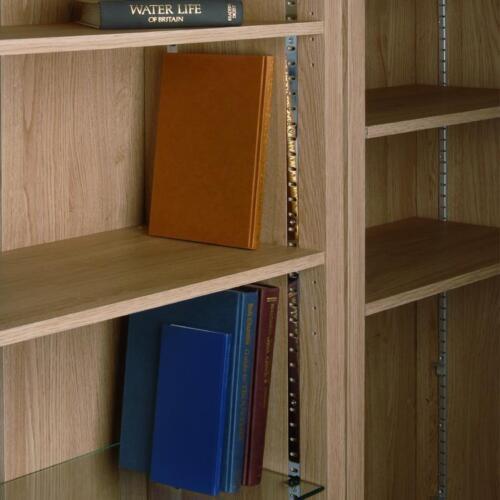 Phoenix Flat Bookcase Shelving Strips 1829mm Aluminium Brass