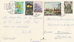 San Marino Briefmarken SchöN Ansichtskarte Von San Marino