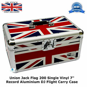 1-NEO-UNION-JACK-Storage-DJ-Flight-Carry-Case-for-200-Singles-45-vinyl-7-034-Record
