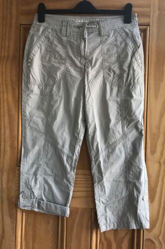 Donna NUOVI Plus Size Nero Bianco Grigio Menta Turn-Up Cotone Corto Pantaloni 10-22