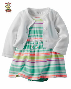 Carter-039-s-Dress-and-Cardigan-Set-9-months-Authentic-and-Brand-New