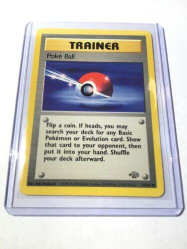 Jungle Set Unlimited Edition Pokemon Card Common 64//64 POKE BALL NM