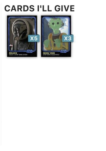 Star Wars Card Trader 4th Anniversary Blue Complete Set Award Ready 28 Cards