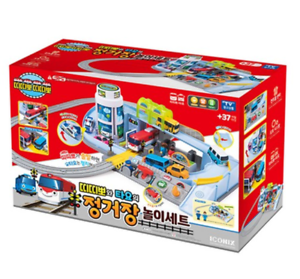 Little Bus TAYO&TITIPO Train Railway Station Play Set with TITIPO Train Toy NEW
