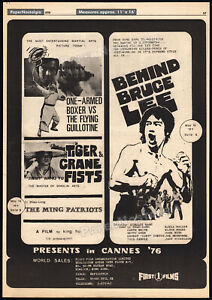 BEHIND-BRUCE-LEE-THE-MAN-THE-MYTH-Original-1976-Trade-print-AD-promo-poster