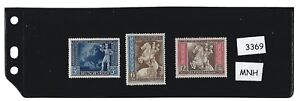 MNH-stamp-set-1942-Third-Reich-Postilion-European-Postal-Congress-Vienna