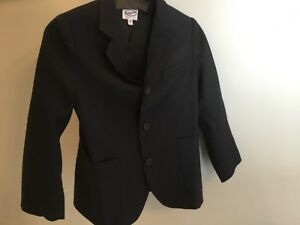 Detalles de Bonpoint Azul Marino Oscuro Niños Chaqueta 4 Forro Lana Usada Suit Top