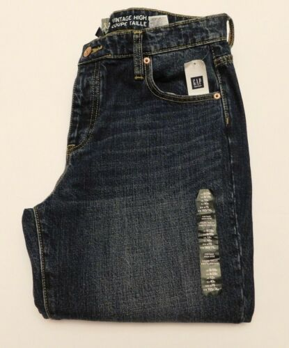 NWT GAP Women/'s Cropped Straight Vtg Jeans High Rise Raw Hem 8 16 MSRP$60 New