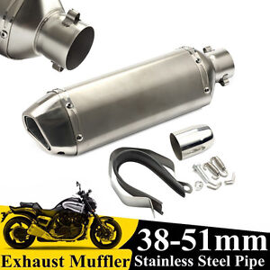 38-51MM-Motorcycle-Titanium-Exhaust-Muffler-Pipe-System-With-Removable-DB-KILLER