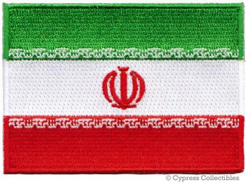 IRAN FLAG embroidered iron-on PATCH IRANIAN EMBLEM PERSIA ISLAMIC REPUBLIC SHAH