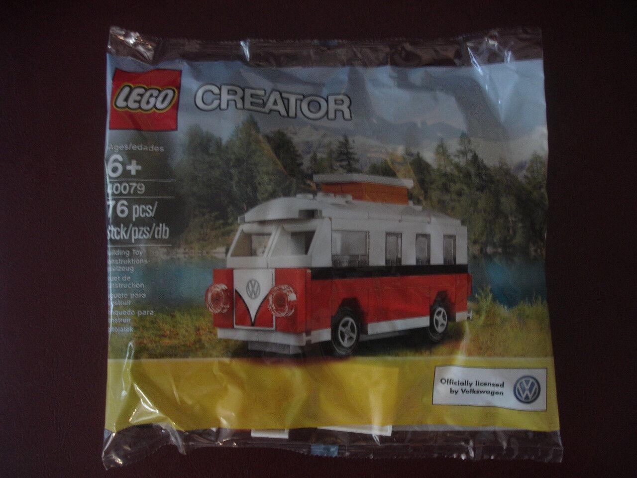 NEW LEGO CREATOR 40079 VW VOLKSWAGEN CAR CAMPER CAMPER CAMPER SET KIT SEALED IN BAG RARE 454801