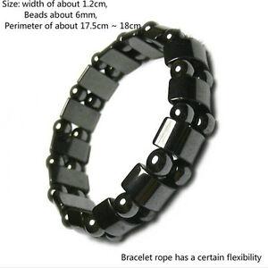 Gewichtsverlust-Runde-Schwarz-Stein-Armband-Gesundheitswesen-Magnetische-NeAA