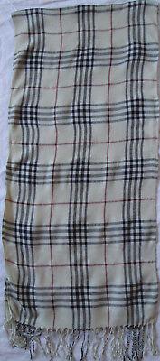 -authentique Écharpe Laine/soie Tbeg Vintage Scarf 170 X 40 Cm