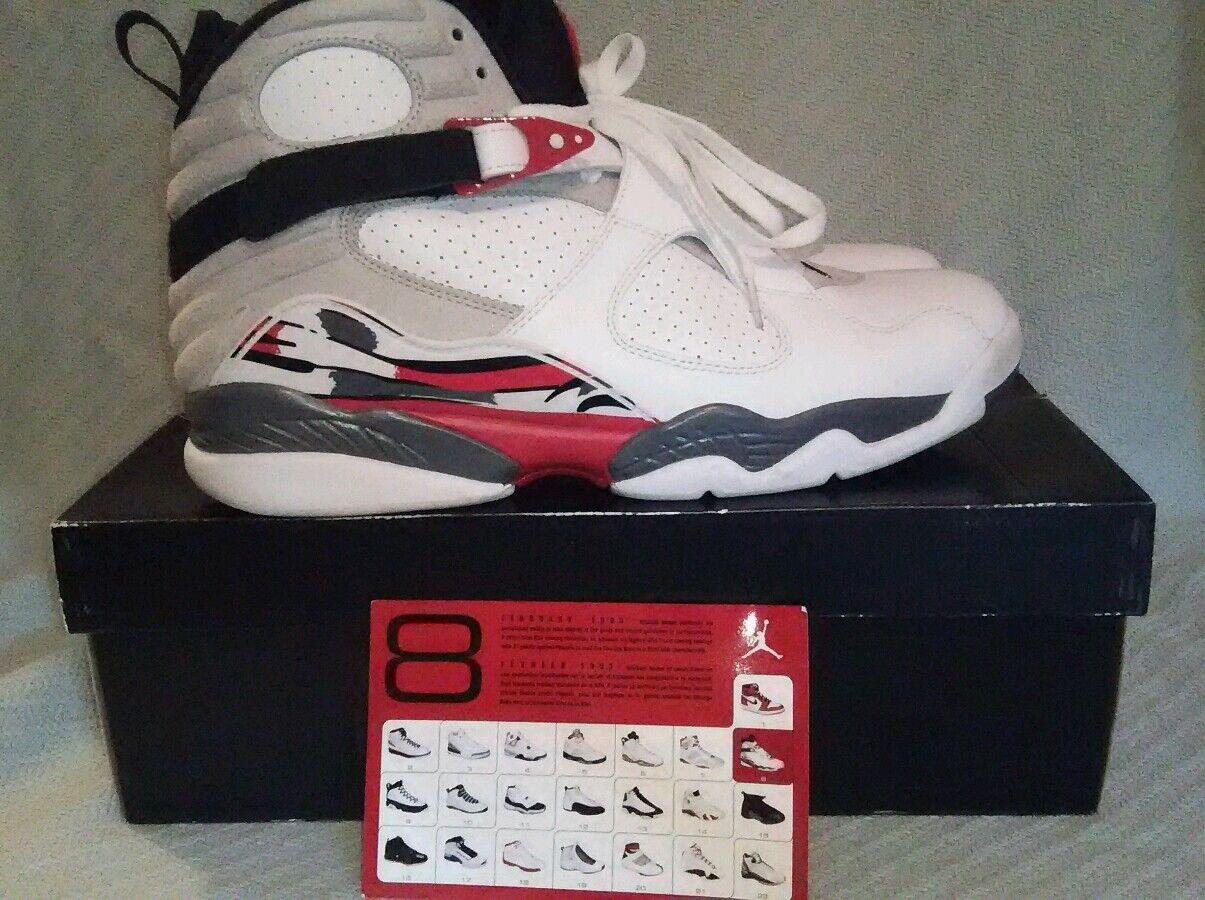 NIKE Air Jordan 8 Retro Buggs Bunny White 305381 103 Basketball Shoes size 13 M