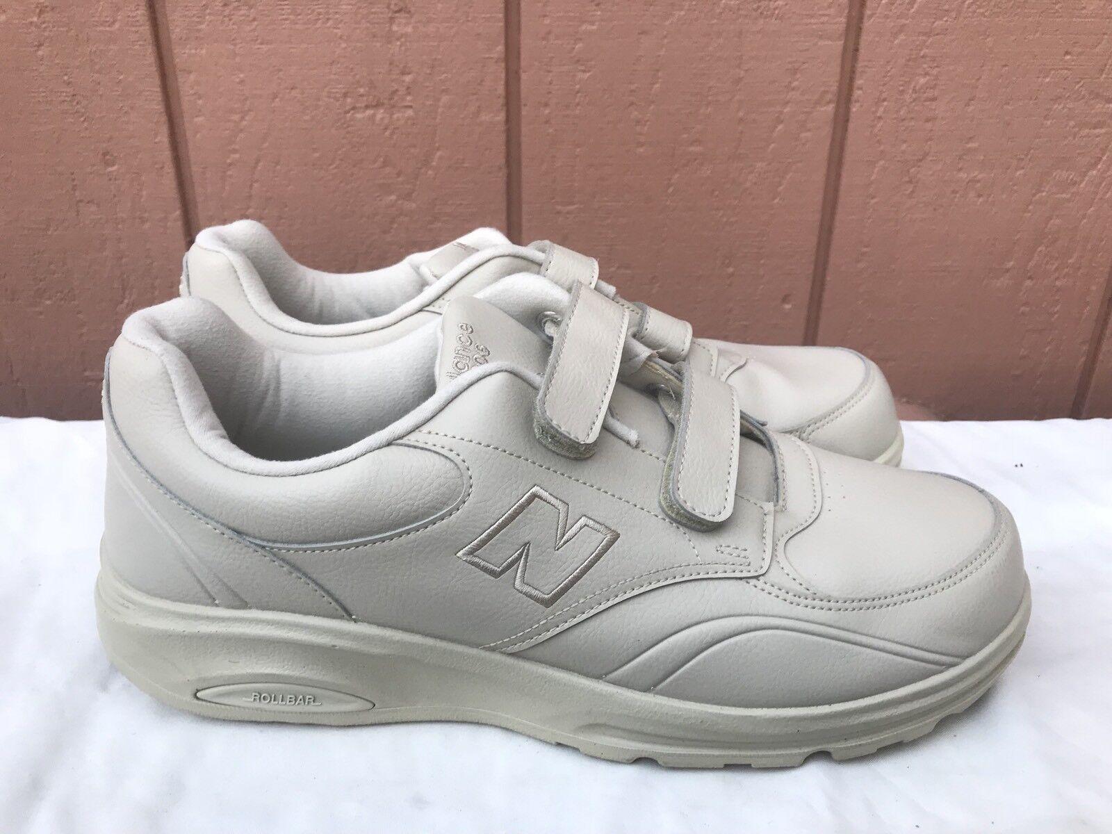 NEW New Balance Men's MW812VK Beige Leather Walking Shoe Sz US 11.5 2E A1