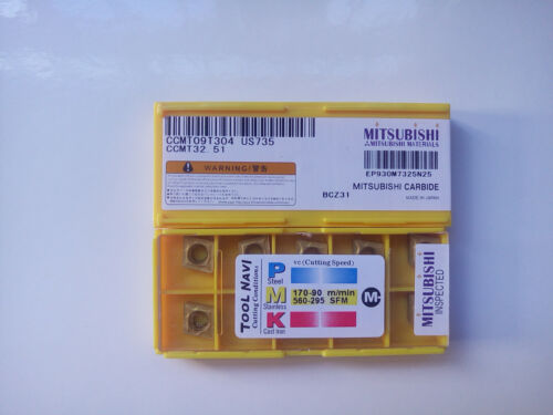 Mitsubishi CCMT32.51 CCMT09T304 US735 10pcs//box Free shipping
