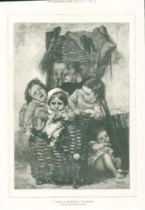 1874-FINE-ART-Antique-Print-Le-Bagage-De-Croquemitaine-Lobrichon-Paris-255