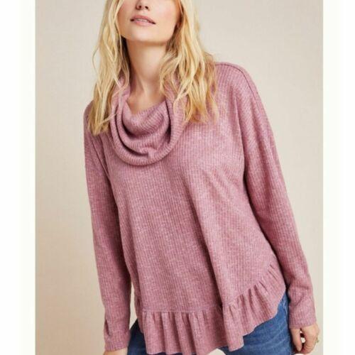 Anthropologie Maeve Addie Ruffled Hacci Sweater