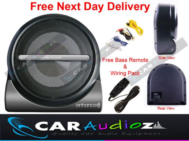 Enhance 20cm 20.3cm Voiture Audio Amplifié Actif Caisson de Basse sous le Siège