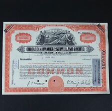 Chicago Milwaukee St. Paul and Pacific Railroad Company Stock Certificate