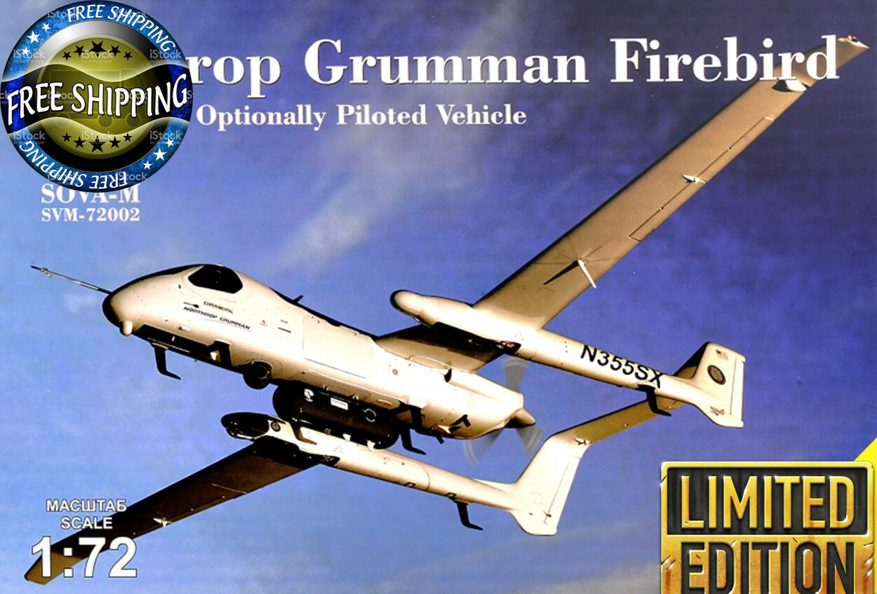 SOVA-M 72002 Northrop Grumman Firebird OPV w reconn. containers plastic kit 1 72
