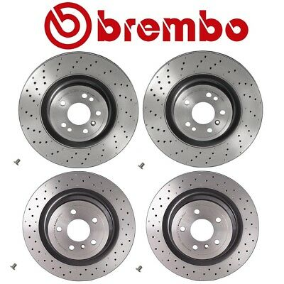 Front /& Rear Brembo Low-Met Brake Pads with Sensors Kit For MB X166 W166 GL GLS