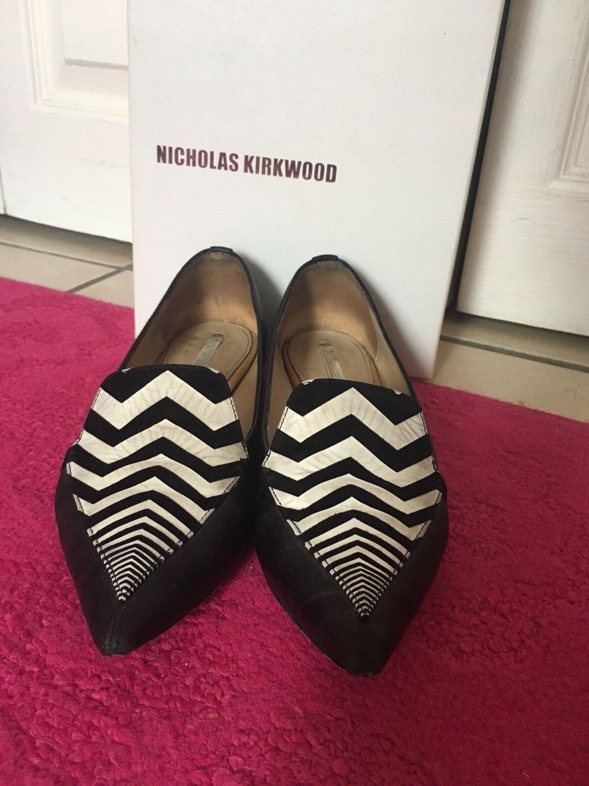 Nicholas Kirkwood 36 Pointed Toe Leathe Flats 36 Kirkwood cd9804