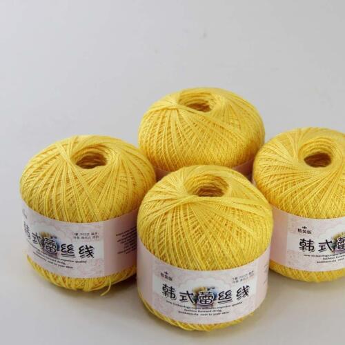 4ballsx50g Hand DIY Knitwear Cotton Lace Crochet Shawl Scarf Knitting Yarn 15