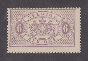 Sweden Sc O16 MNH. 1882 6o red lilac Official, usual centering