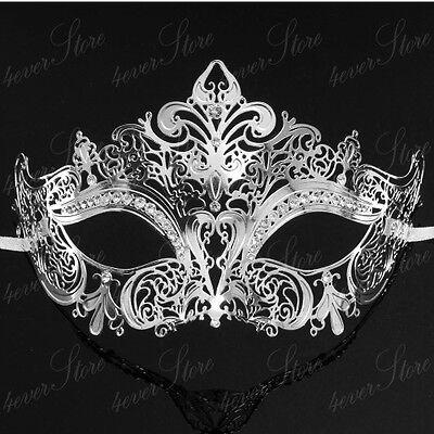 Luxury Womens Laser Cut Venetian Masquerade Mask - Made of Light Metal