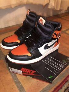 Nike Air Jordan 1 Retro Alta Satén Destrozado Tablero W Para Mujer Talla 8 5 Ebay