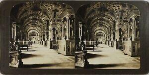 Italia-Roma-Il-Vaticano-Le-Librerie-Foto-Stereo-Vintage-Analogica-PL60OYL5