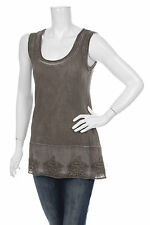BOTTEGA / ELISA CAVALETTI VISCOSE & ELASTANE BROWN TUNIC  TUNIKA TOP