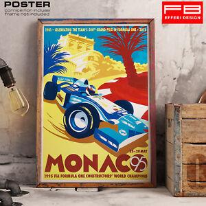 POSTER-Formukla-Uno-F1-Monaco-Montecarlo-Casino-Epoca-Celebration-500-GP