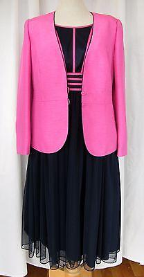 Buono Jacques Vert Fucsia & Navy Gamma Navy Rete & Fucsia Ribbon Dress Giacca Fucsia-mostra Il Titolo Originale Bello A Colori