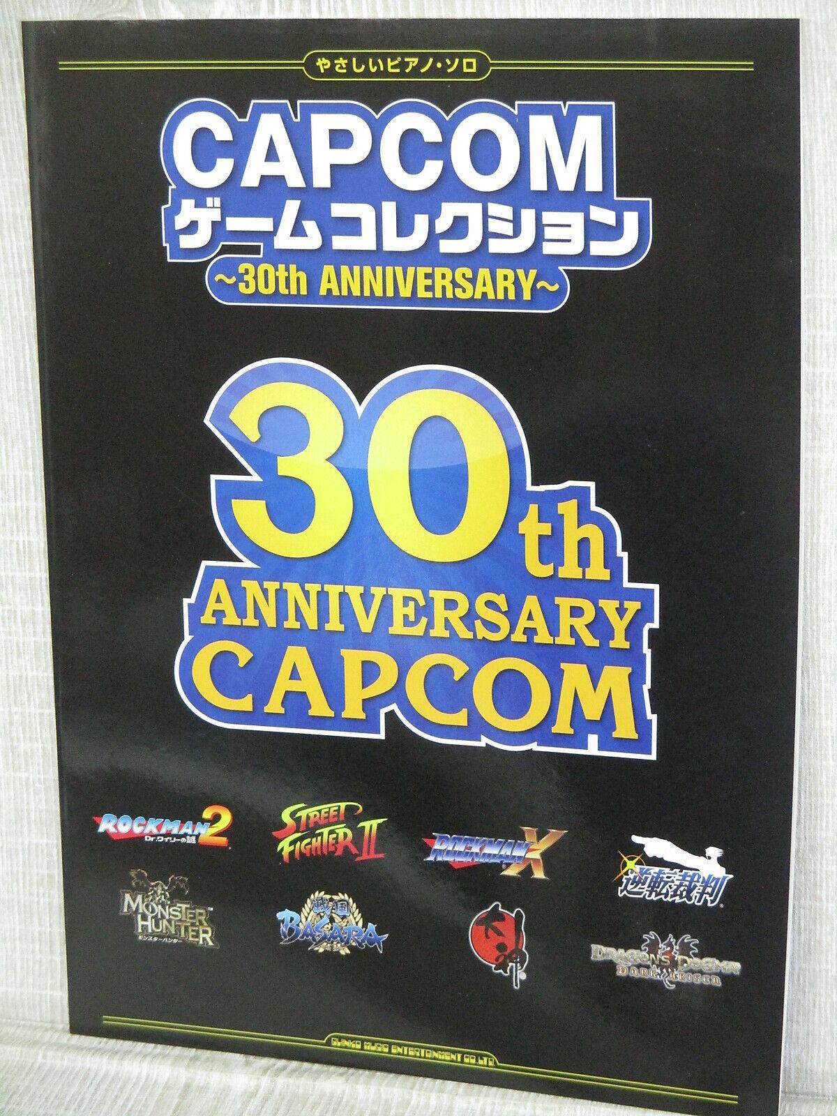 Capcom Jeu Collection W Autocollant 30th Anniv. Piano Score 2014  Art Musique  grande remise