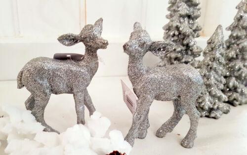 Weihnachtsdeko Hirsch Weihnachtsbaum Silber Reh Shabby Vintage Landhaus Deko