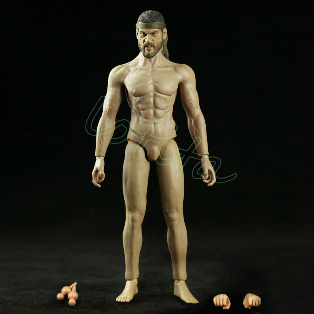 CMTOYS 1/6 Skin Farbe Rubber Layer Muscular Body Head Sculpt 12