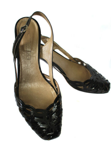 Gr Lackleder 38 Italy Echtleder Leder Sandalette Progetto Sandale Pumps q1vWYg