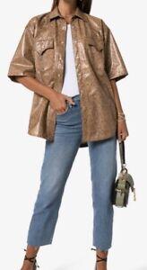 Nanushka-Vegan-Leather-Snake-Shirt-jacket-Large-PG344