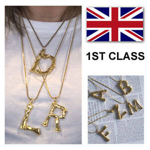 Alphabet-Letter-Initial-Pendant-Necklace-Brass-Gold-Plated-A-to-Z