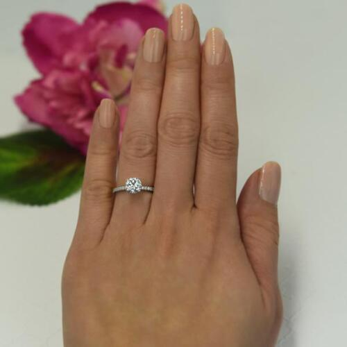 1.25 Ct Round Cut Solitaire Diamond Engagement Ring 14k White Gold Over 1